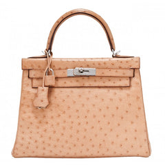 Hermes Kelly Ostrich Leather