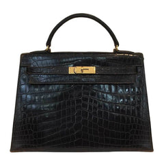 Hermès Kelly 32 Vintage Bag Cocaon Crocodile