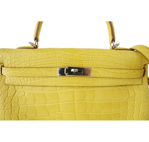 Hermes Kelly 35 Mimosa Alligator