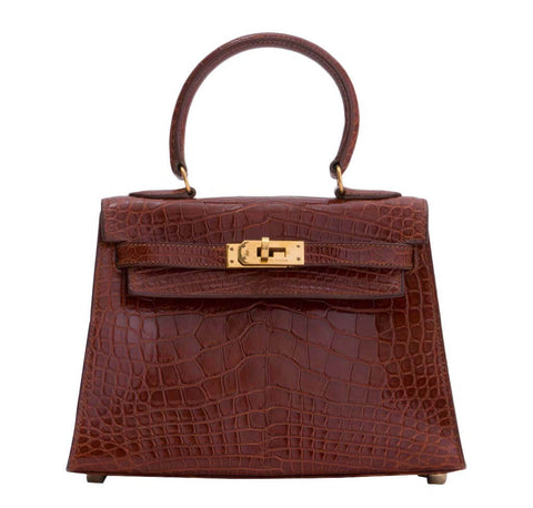 Hermes Mini Kelly Miel Alligator