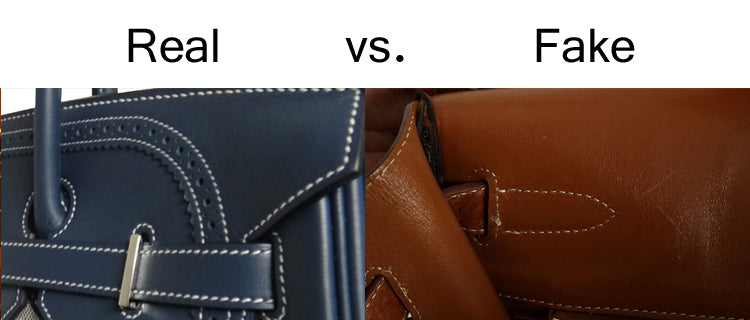 Real vs Fake Hermes Stitching