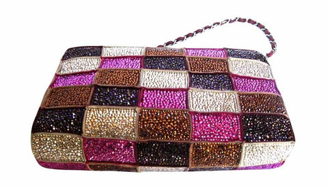 Multicolor Crystal Chanel Bag One of a Kind