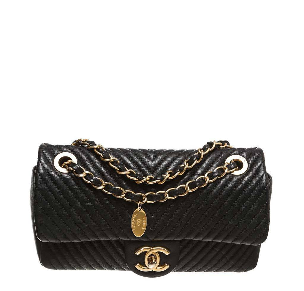 0ac1885f77de Chanel Black Classic 2.55 Bag - Lambskin Leather | Baghunter