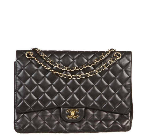 Chanel Black Single Flap Bag