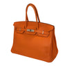 Hermes Birkin 35 Orange Togo Palladium excellent side
