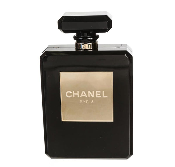 Chanel Black Plexiglass Perfume Bottle Bag