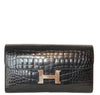Hermes Constance Long Wallet Alligator Noir Clutch excellent front