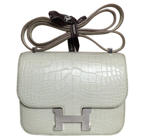 Hermes Constance 18 Bag Beton Alligator PHW