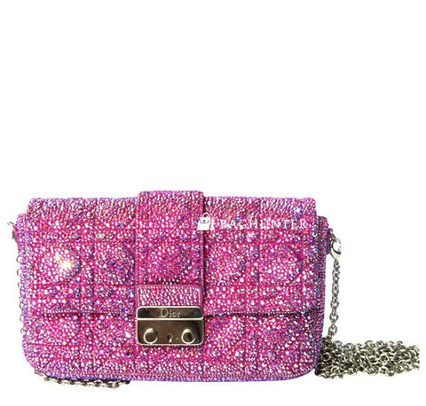 Dior Pink Crystal Custom Bag