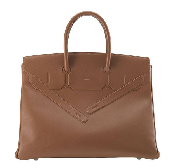 Hermes Birkin 35 Alezan Shadow Bag