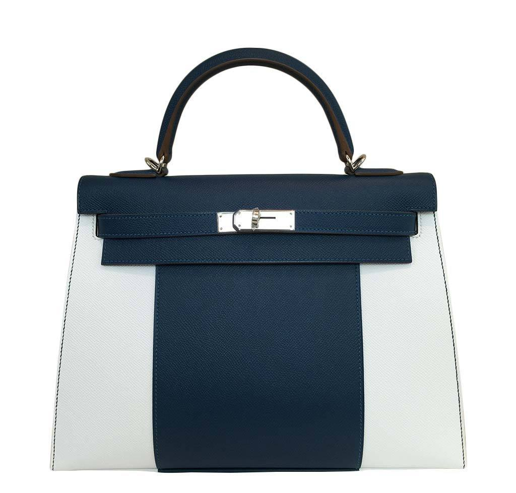 c1b7d42a41d Hermès Kelly 32 Flag Sellier Bag Bi-Color Limited Edition