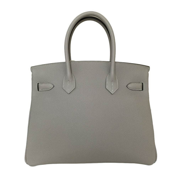 hermes birkin 30 gris tourterelle new back