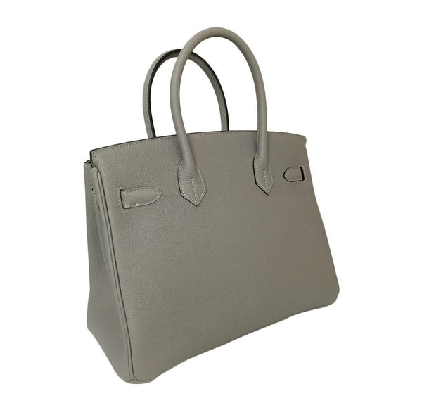 hermes birkin 30 gris tourterelle new back side