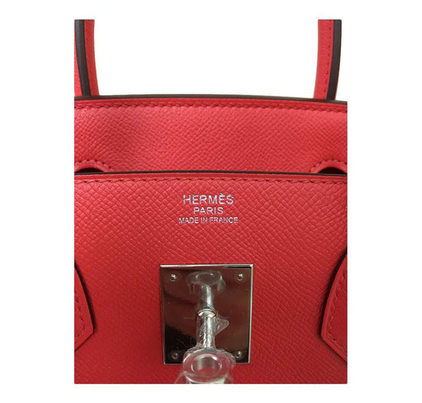 hermes birkin 30 rose jaipur new embossing