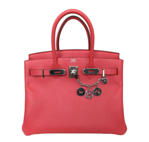 hermes birkin 30 rose jaipur new front open
