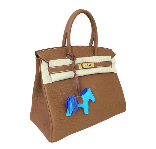 Hermes birkin 30 gold new side
