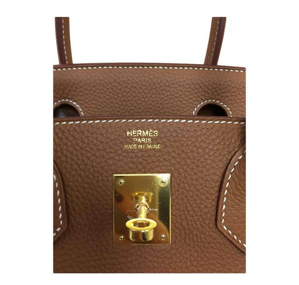 Hermes birkin 30 gold new embossing
