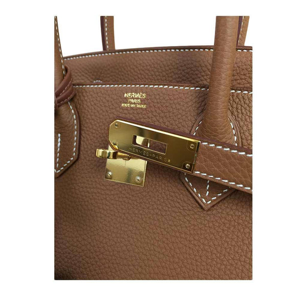 Hermes birkin 30 gold new engraving