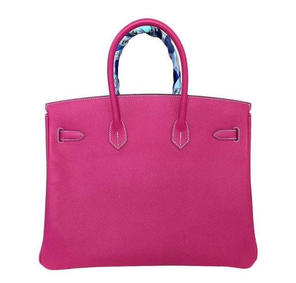 hermes birkin 35 rose tyrien used back