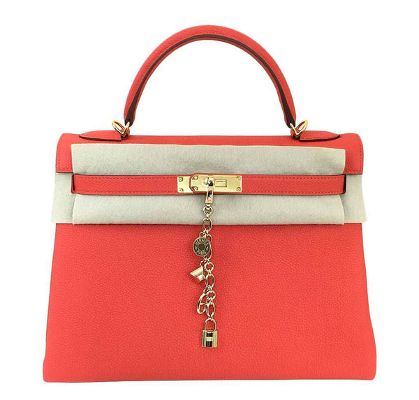 hermes kelly 32 cappucine new front