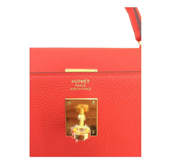 hermes kelly 32 cappucine new embossing