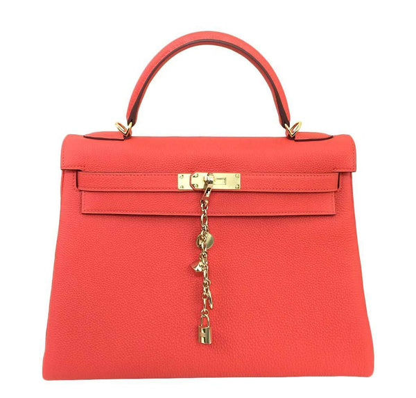 Hermes Kelly 32 Capucine Togo Bag