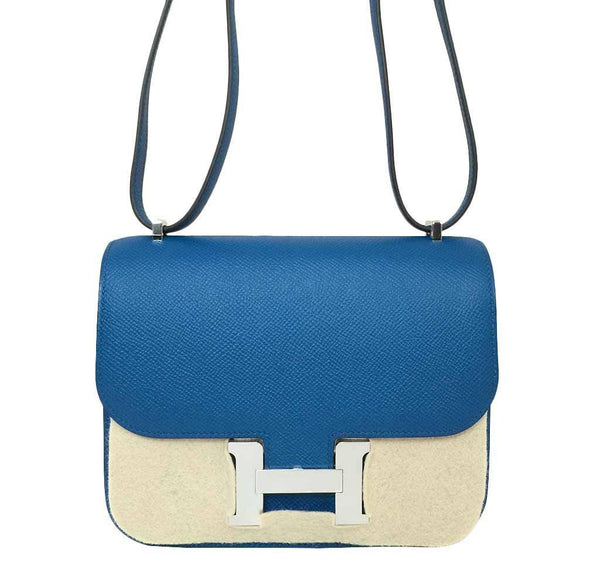 hermes constance 18 blue izmir new detail