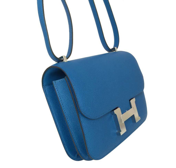 hermes constance 18 blue izmir new side
