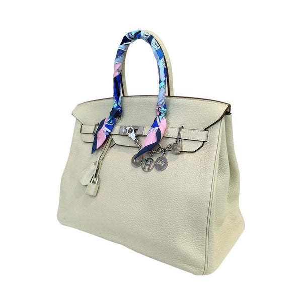 hermes birkin 35 cream used side