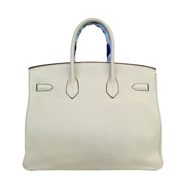 hermes birkin 35 cream used back