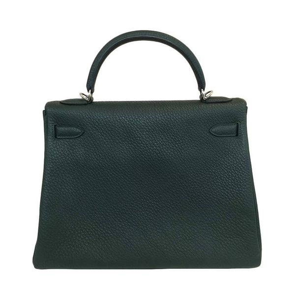 hermes kelly 32 green new back