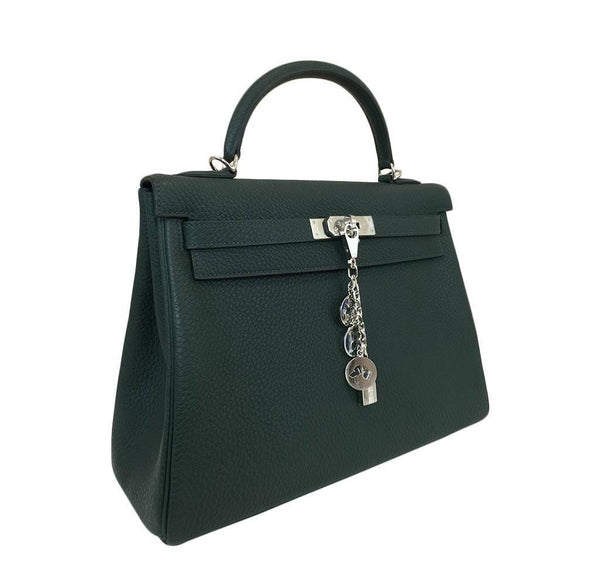 hermes kelly 32 green new side
