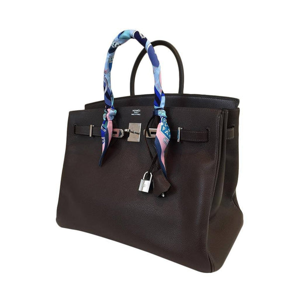 hermes birkin 35 brown used side
