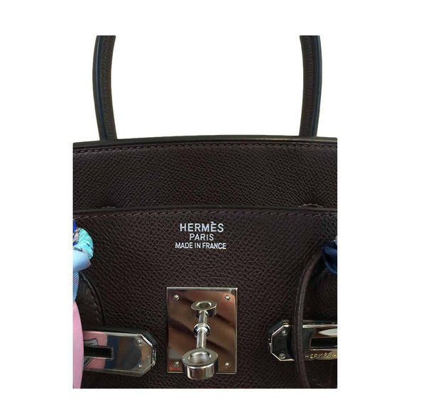 hermes birkin 35 brown used embossing