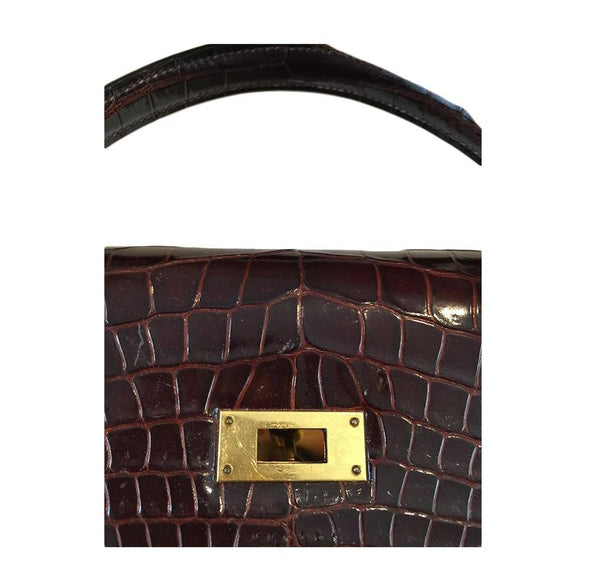 Hermès Vintage Kelly Crocodile Bag 32cm
