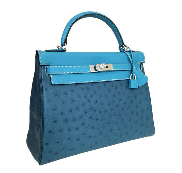 hermes kelly 32 tri-color limited edition used side