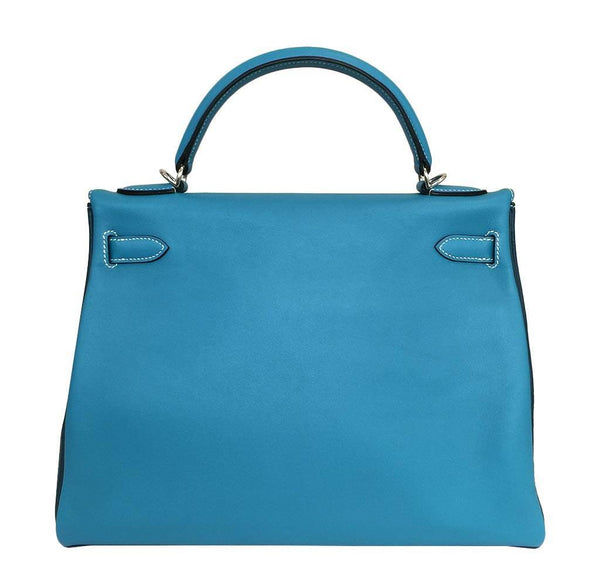 hermes kelly 32 tri-color limited edition used back