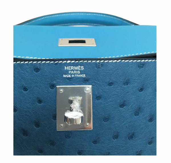 hermes kelly 32 tri-color limited edition used embossing