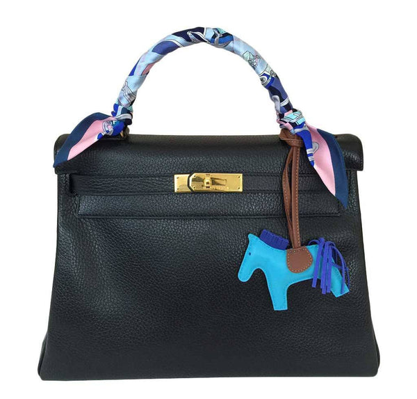 Hermes Kelly 32 Black Bag