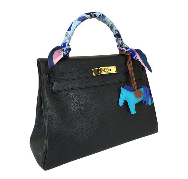 hermes kelly 32 black used side