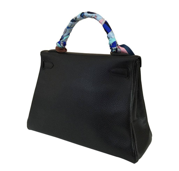 hermes kelly 32 black used back