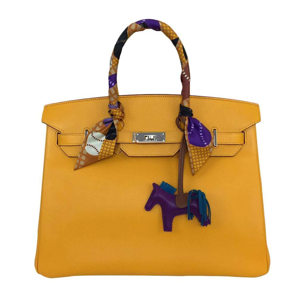 Hermes Birkin 35 Epsom Bag In Jaune D Or Baghunter