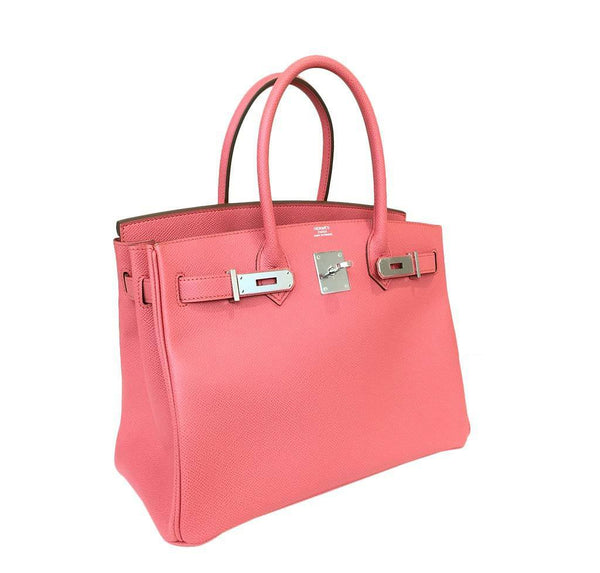 hermes birkin 30 pink flamingo new front open
