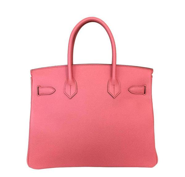 hermes birkin 30 pink flamingo new back