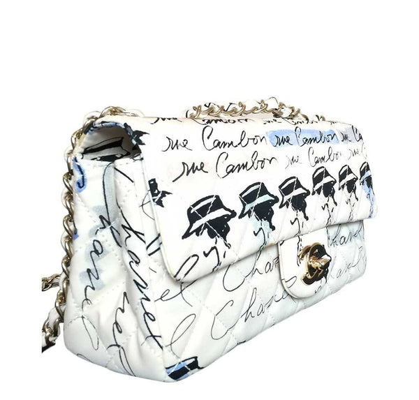 chanel flap bag mademoiselle coco chanel used side