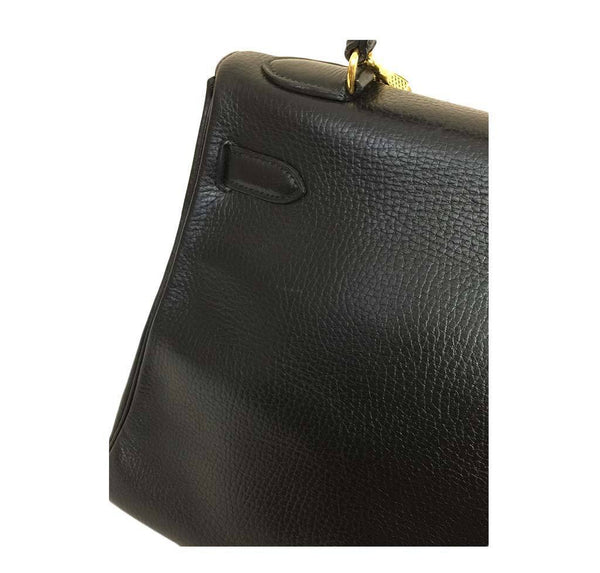 hermes kelly 32 black used detail