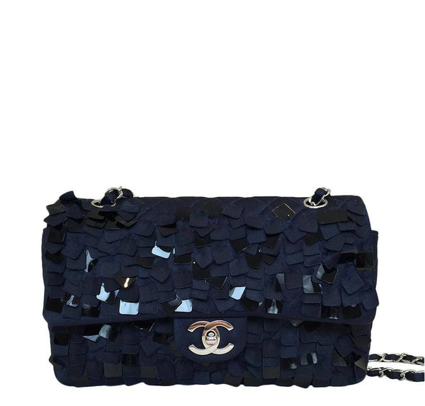 Chanel Medium Double Flap Bag Blue
