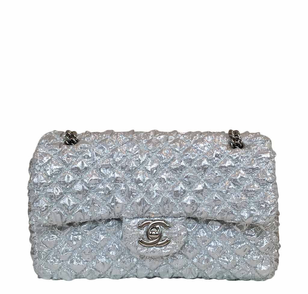 14768c2f425b Chanel Double Flap Bag Small Silver - Limited Edition