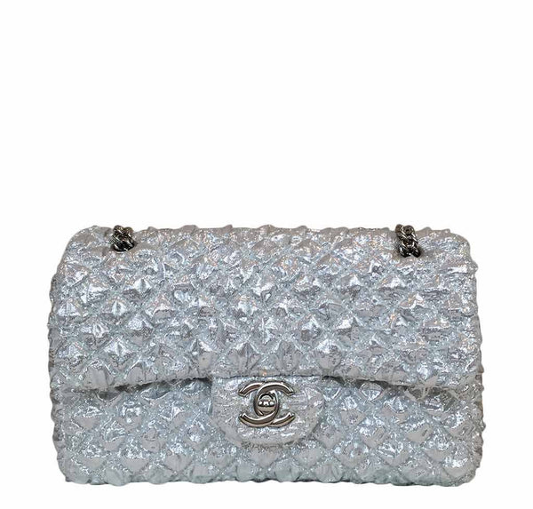 Chanel Double Flap Small Silver