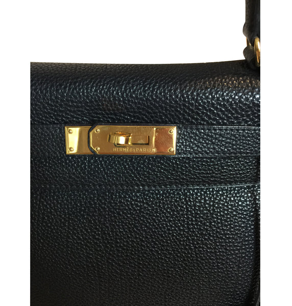 Hermès Kelly 28 Black Togo Bag GHW